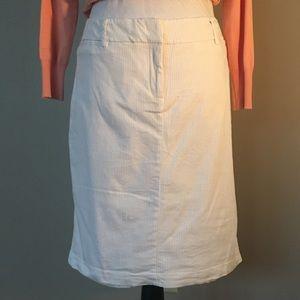 White/Brown Pin Stripe Skirt